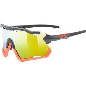 UVEX Sportstyle 228 Glasses grey/orange matt/mirror orange